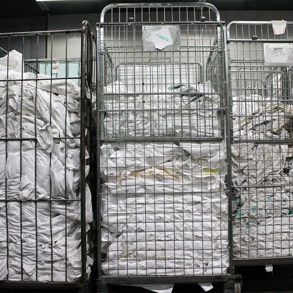 Company C had accumulated over 40 tonnes of non-conformance Linen to rag and replace with new stock